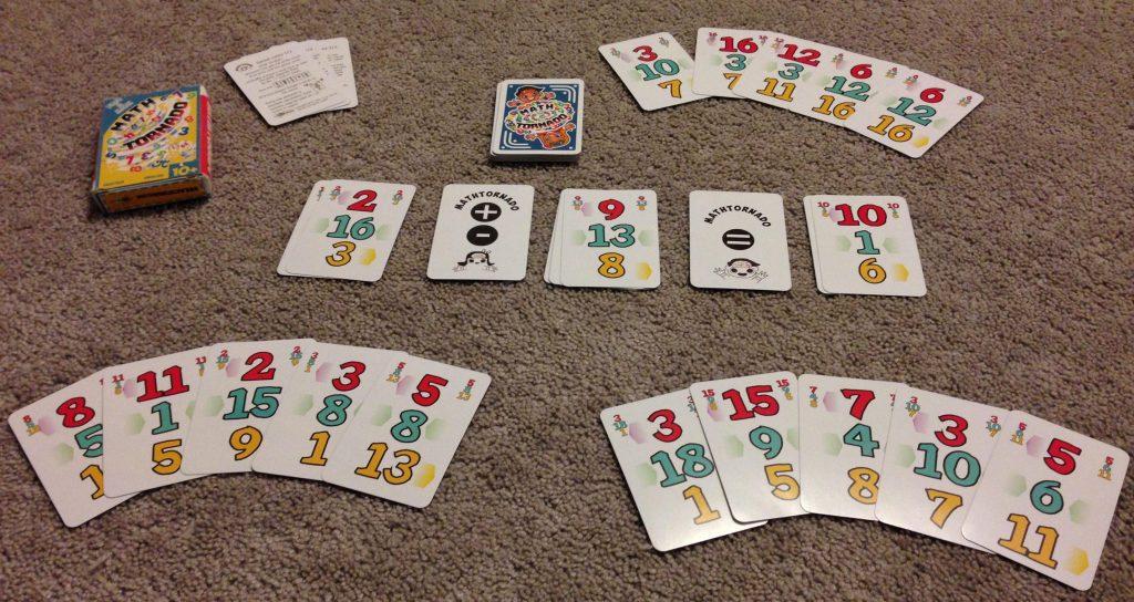 math tornado card game