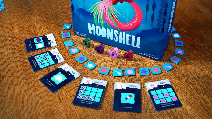 Mermaid board game with components